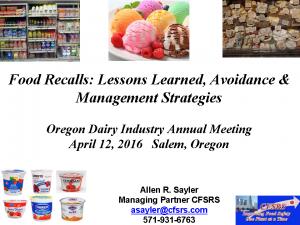 6-Allen 2016 ODI Annual Meeting Presentation - Recalls